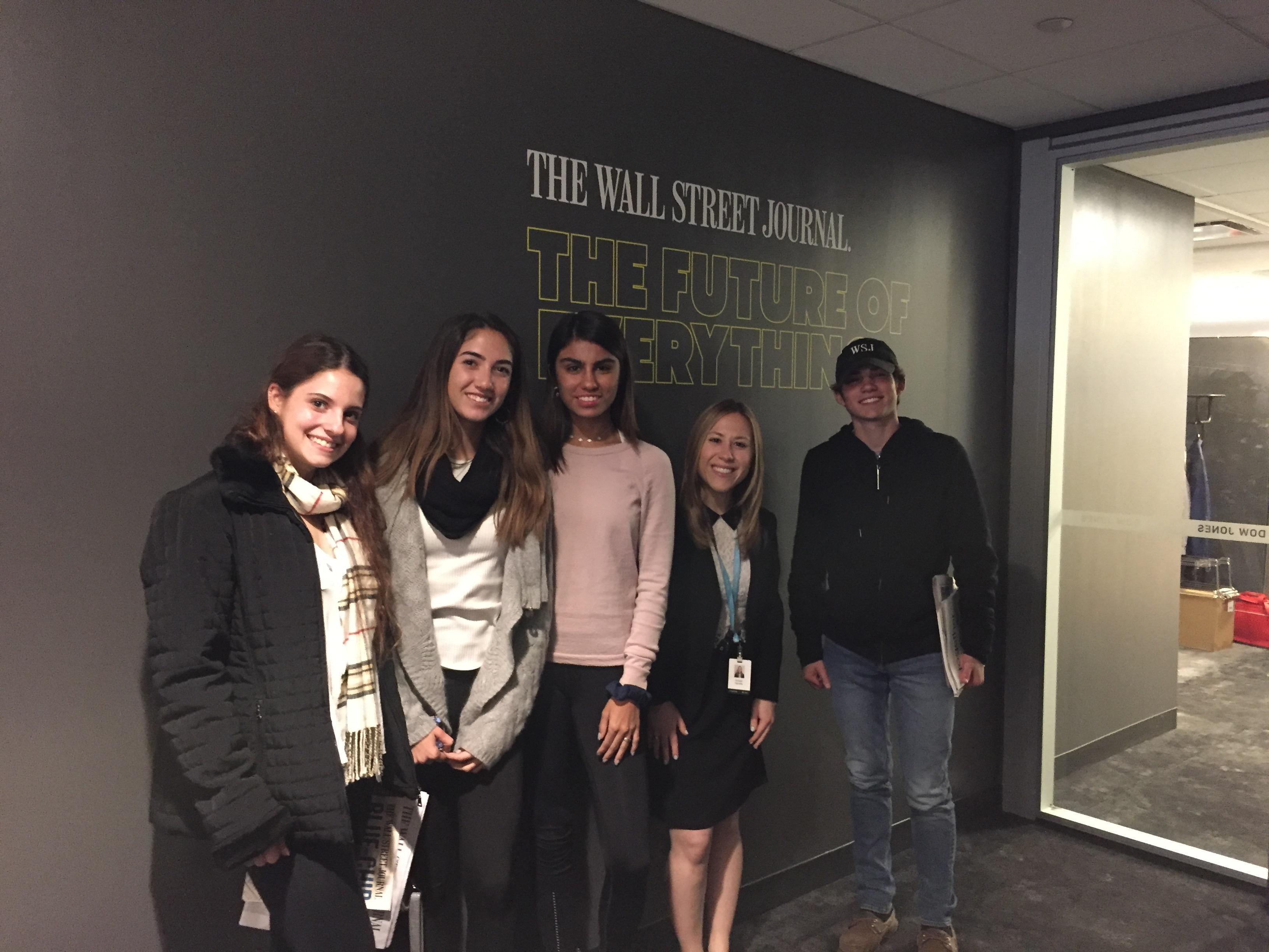 Students with Morgan Manella 12