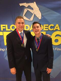 Ethan Berman '19 and Harris Gevinson '19 DECA