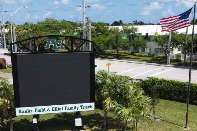 New Scoreboard Spring 2021 Banks Field