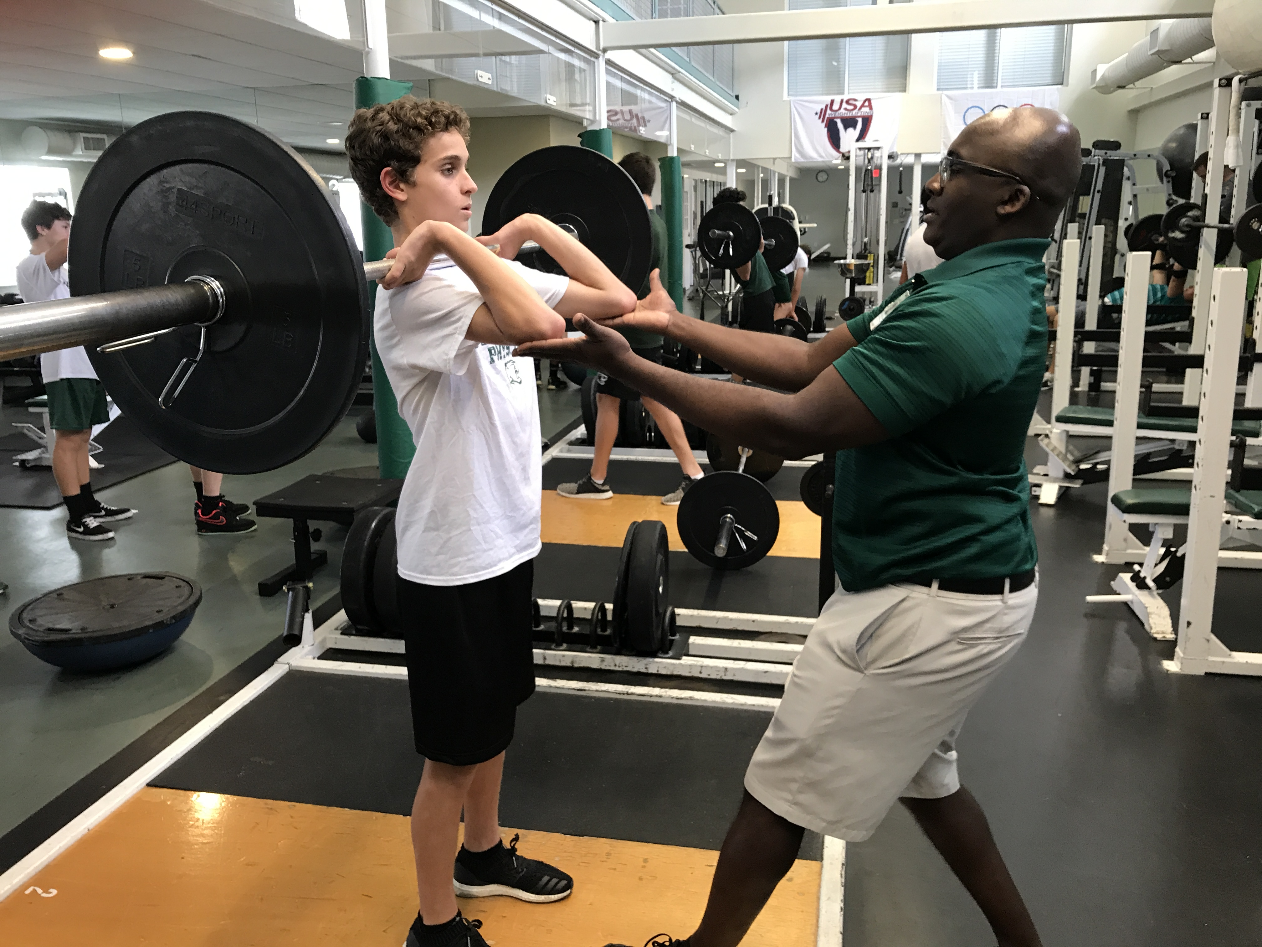 Middle School strength training