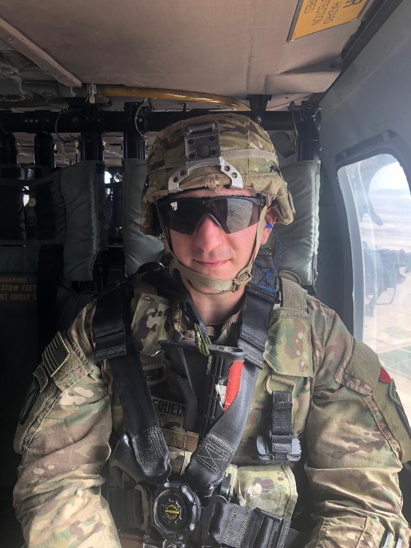 Michael Zequeria Helicopter over Kandahar City
