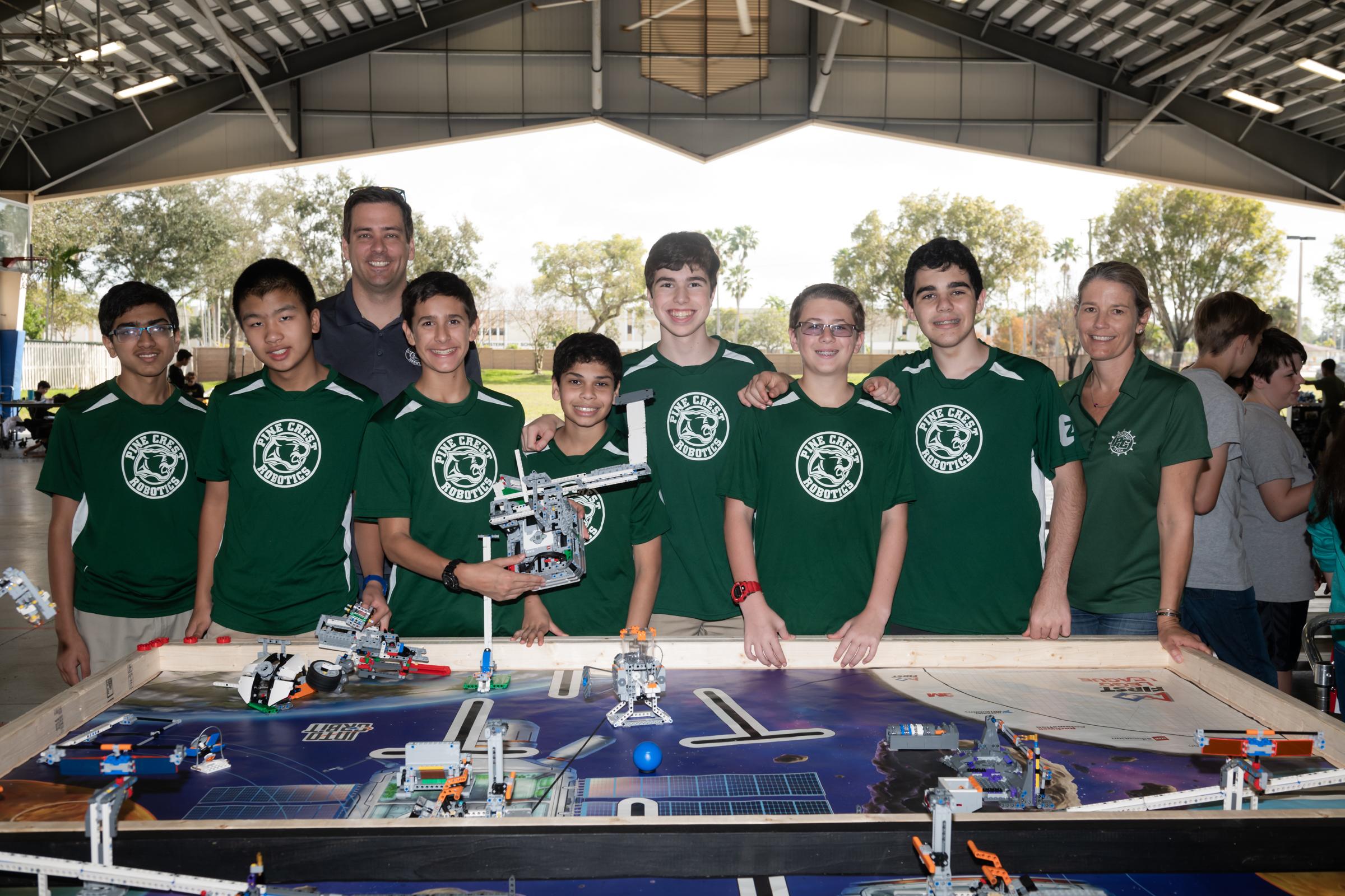 Middle School robotics team