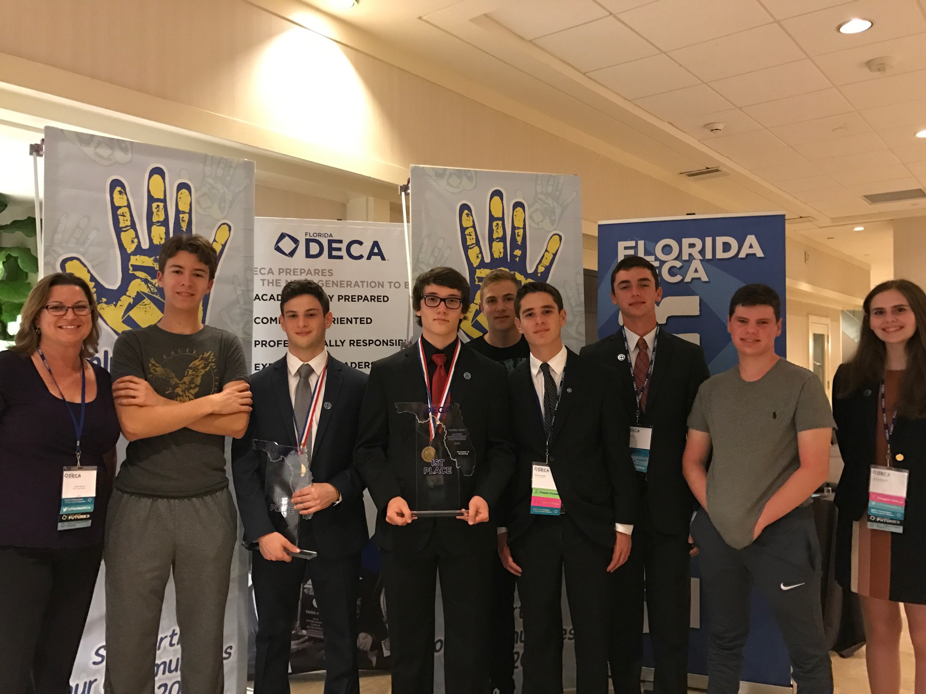 DECA group at a competition