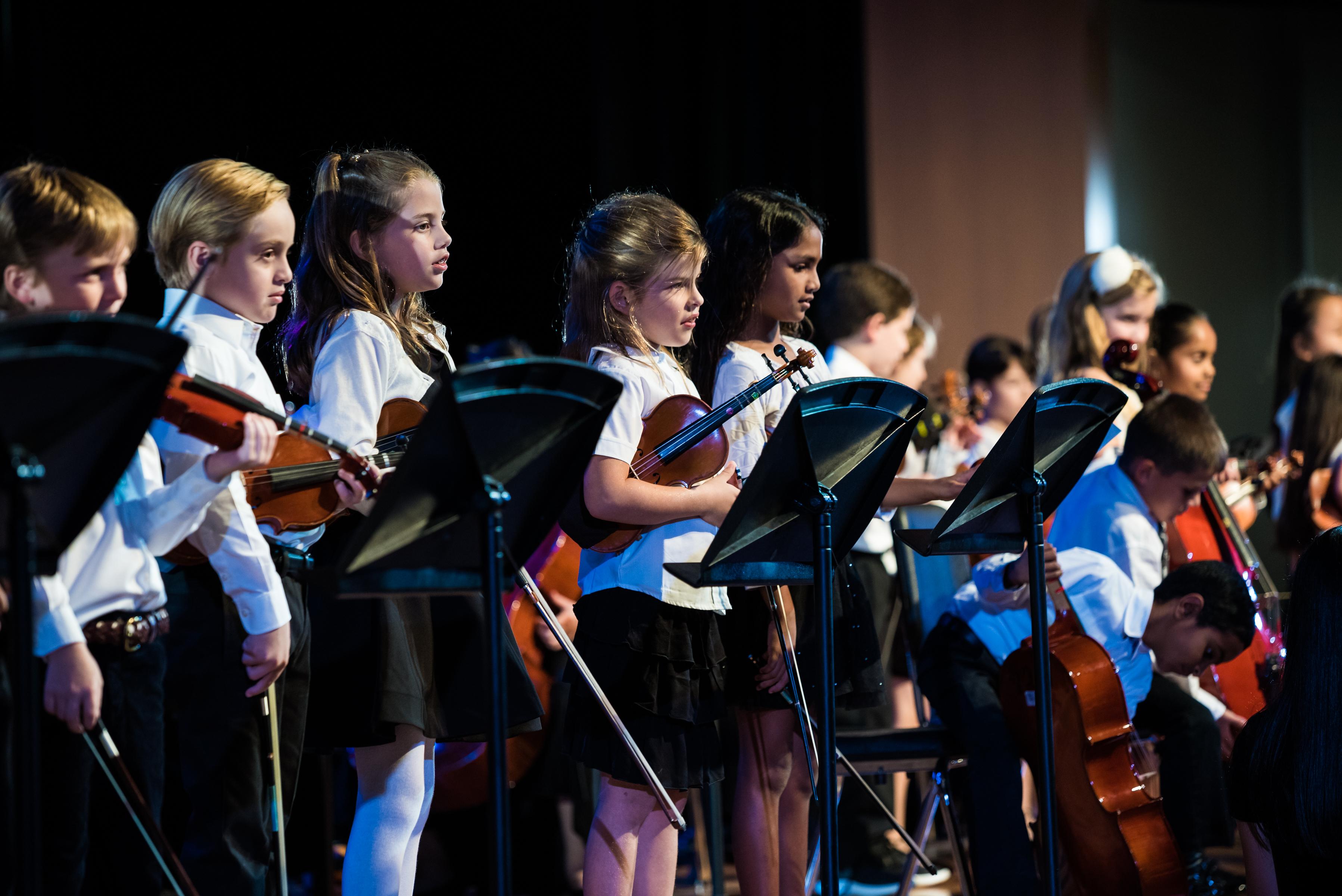 lower school strings performance