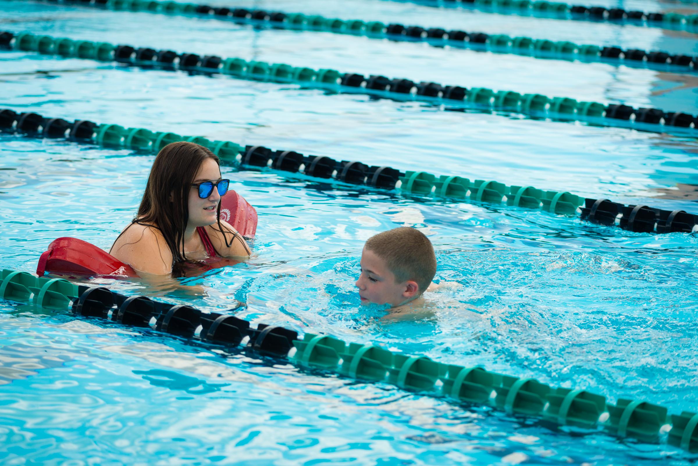 life guard in pool